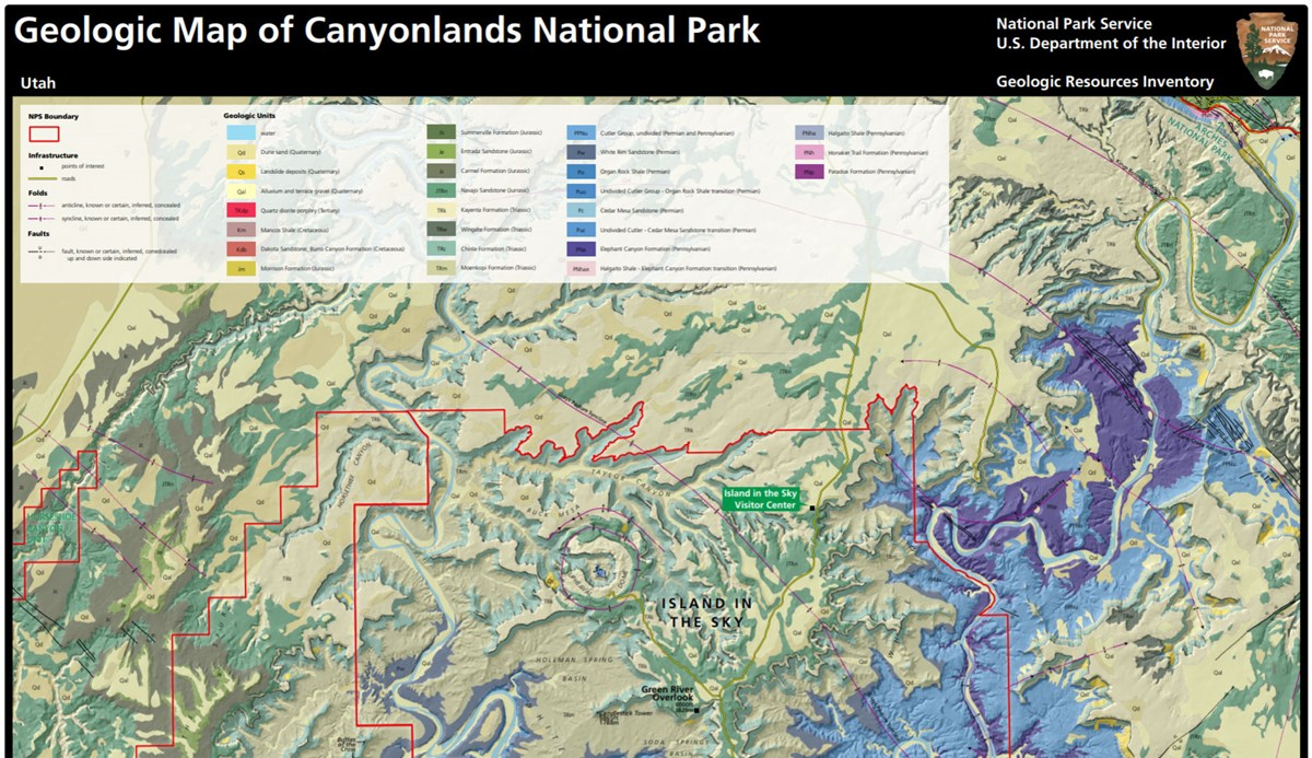 image of canyonlands gri geologic map
