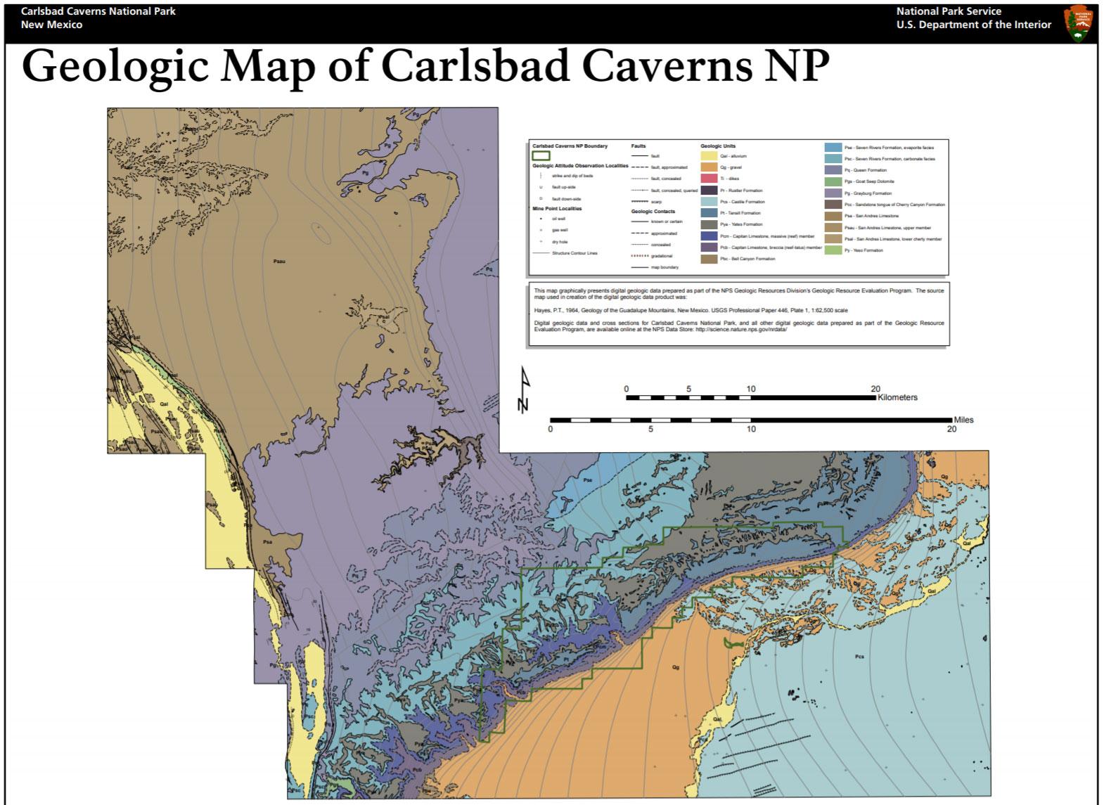 Nps Geodiversity Atlas Carlsbad Caverns National Park New Mexico