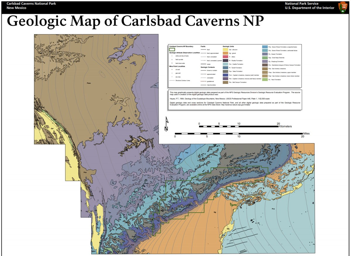 imag of carlsbad caverns gri geologic map