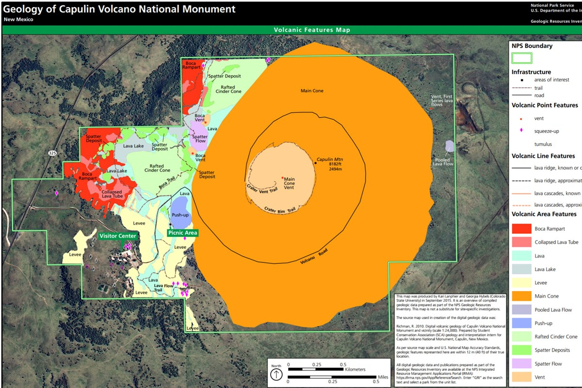 link to capulin volcano geologic map