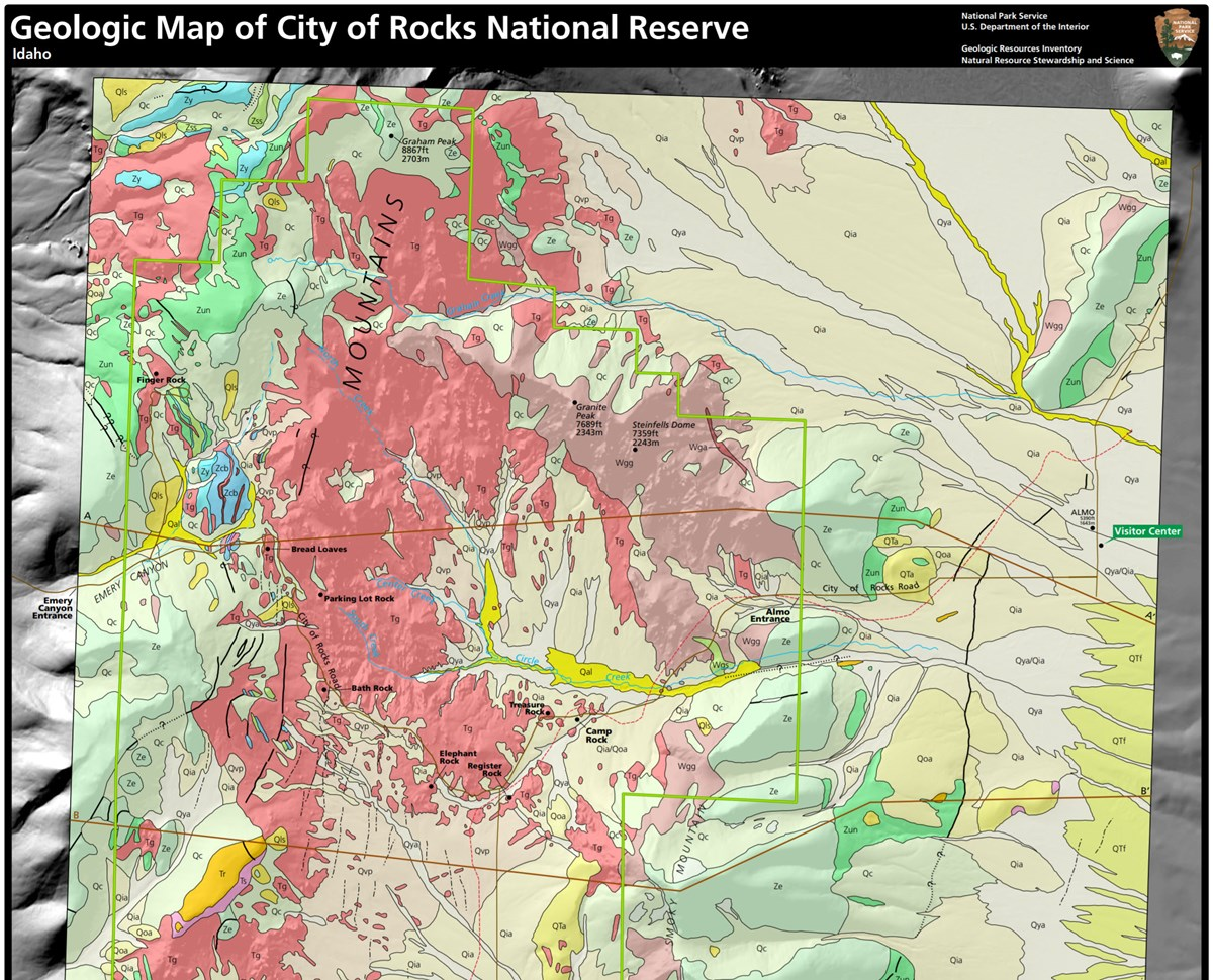 link to city of rocks geologic map