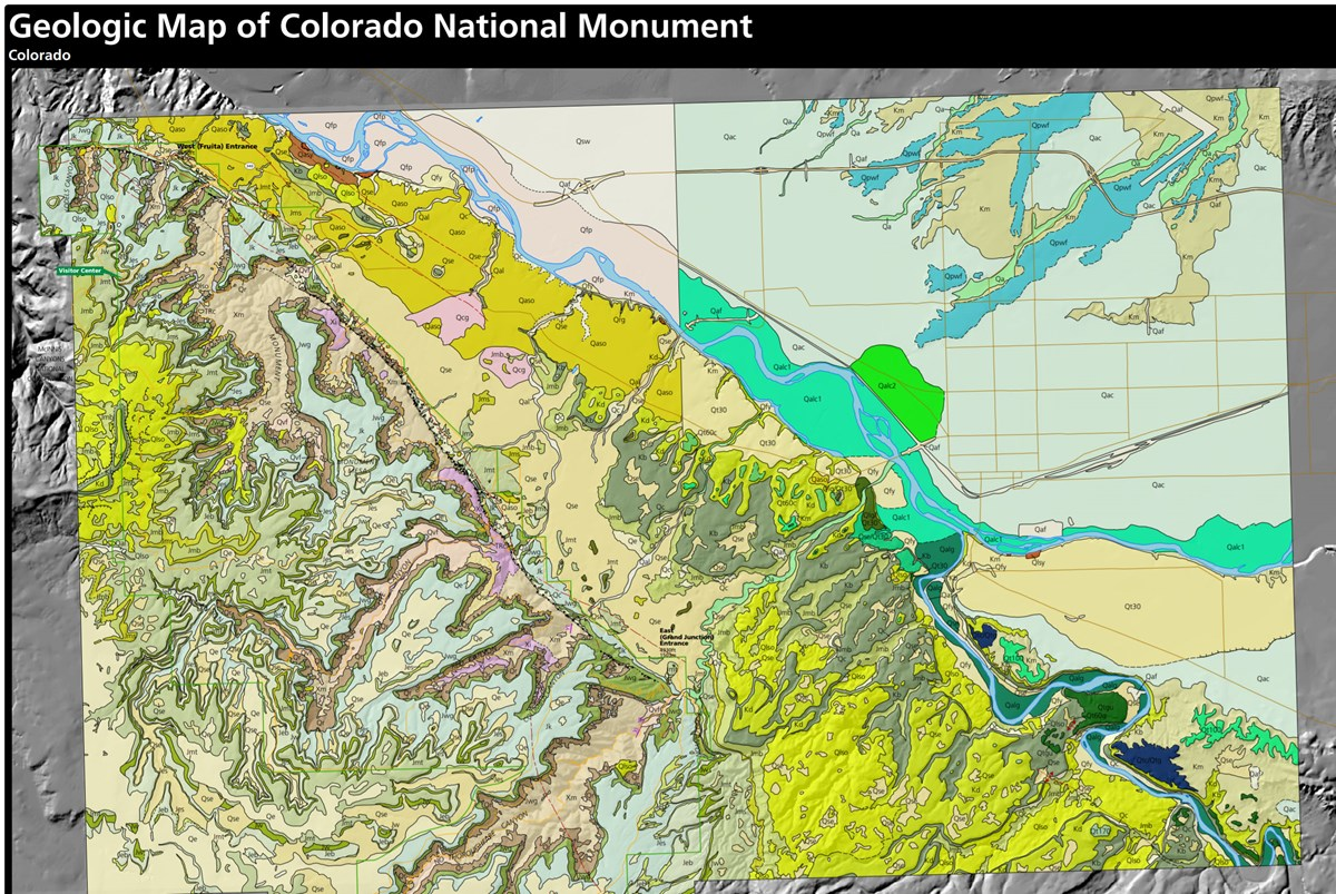 link to colorado national monument geologic map