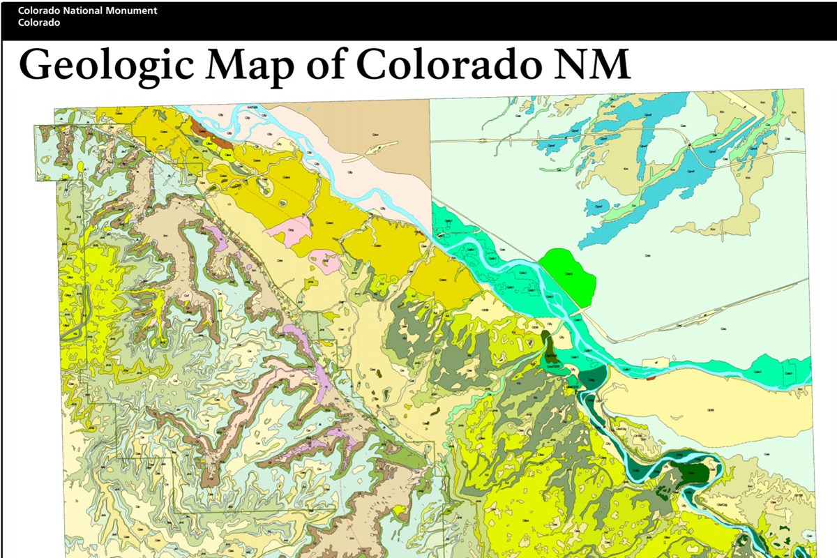 image of colorado national monument geologic map