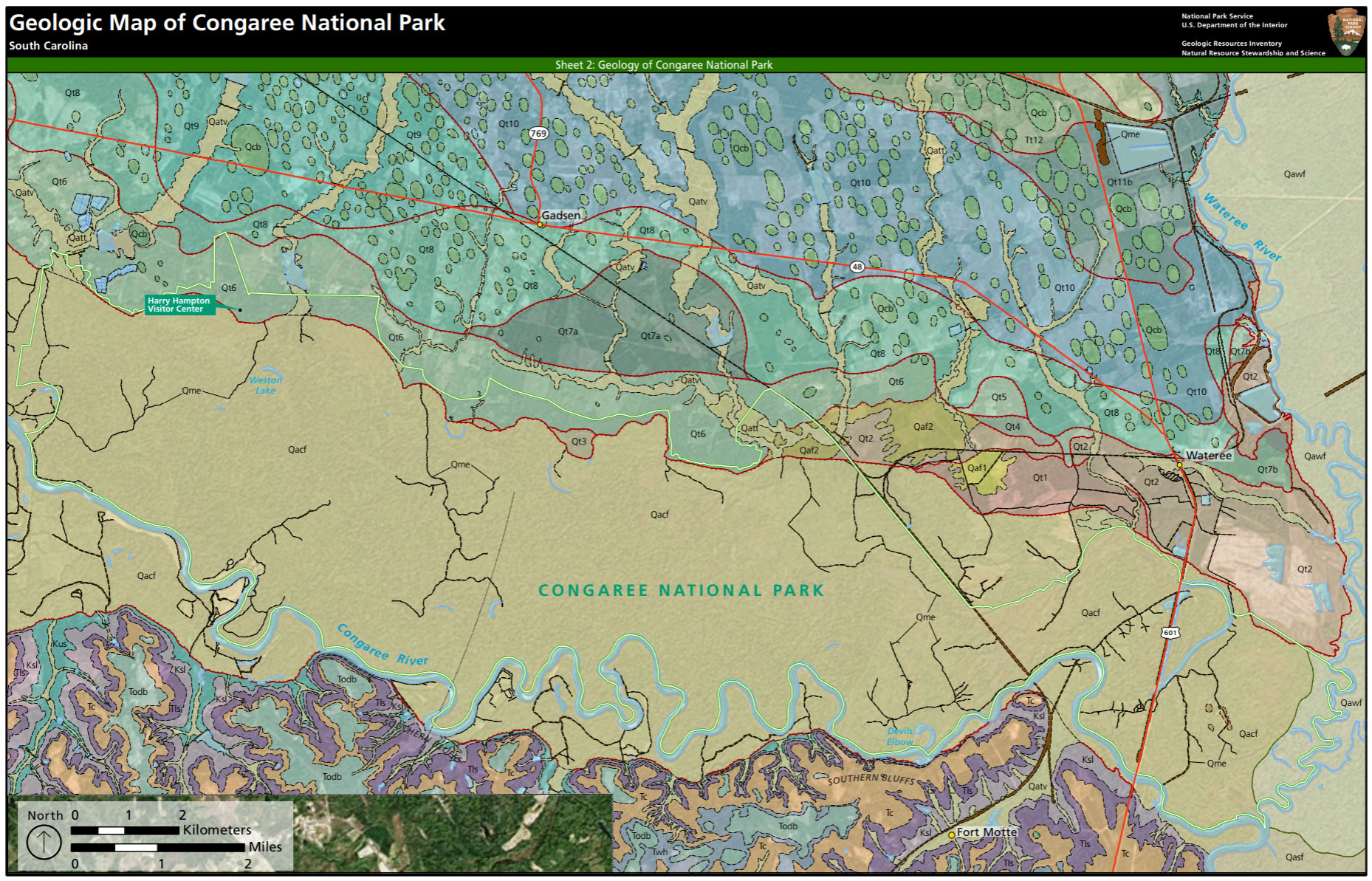 NPS Geodiversity AtlasCongaree National Park South Carolina US