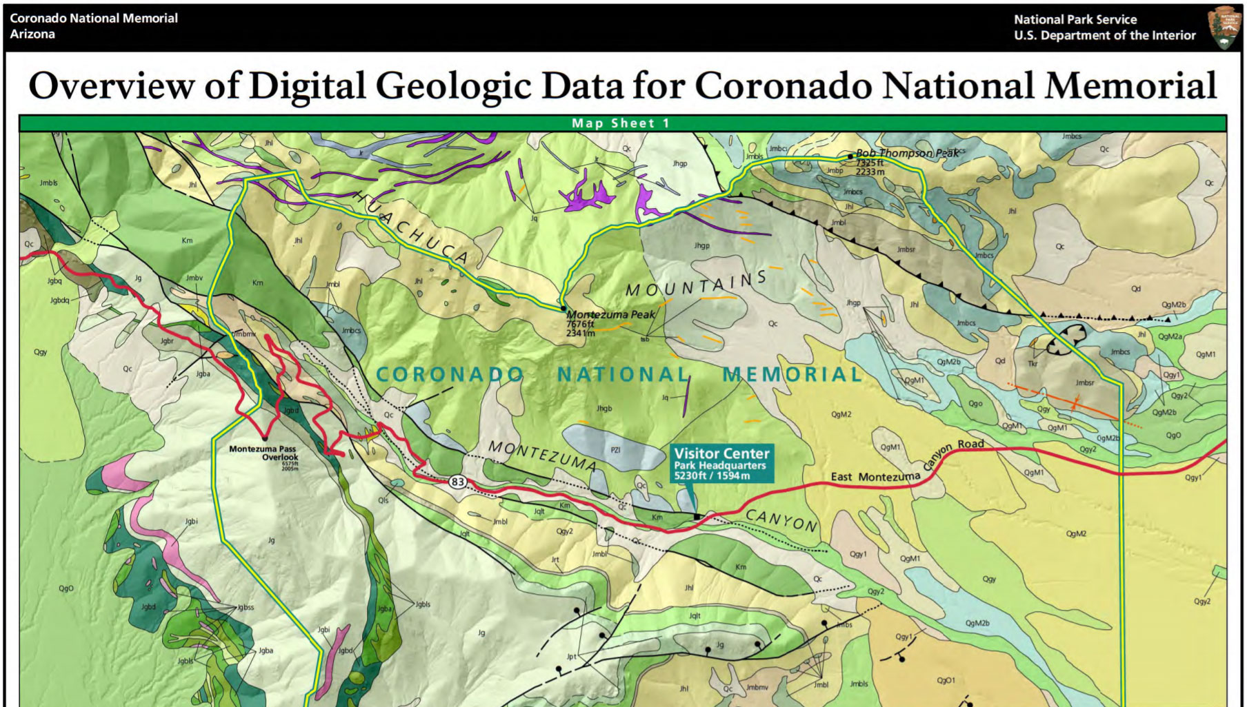 NPS Geodiversity Atlas—Coronado National Memorial, Arizona (U.S. ...