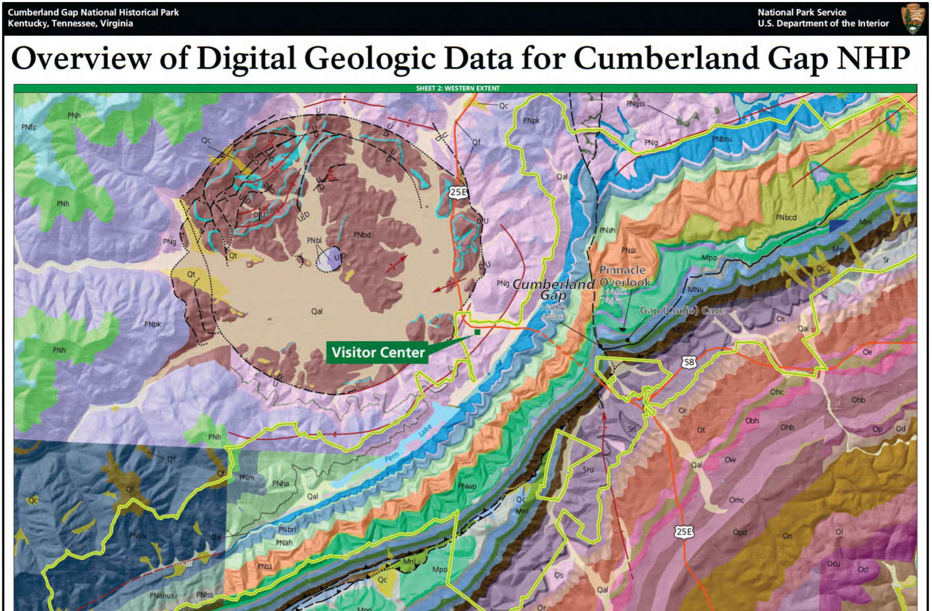 NPS Geodiversity Atlas—berland Gap National Historical ... on greenup county ky map, confluence of mississippi and arkansas map, mississippi territory map, tennessee fall creek falls map, early tenn river maps,