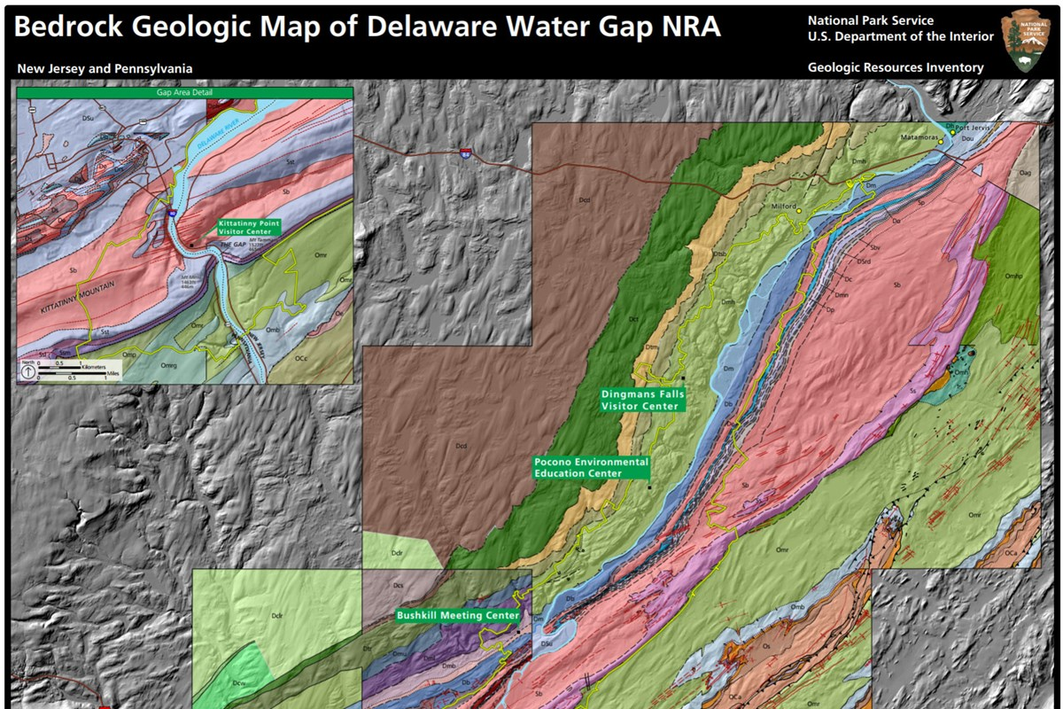 link to delaware water gap geologic map