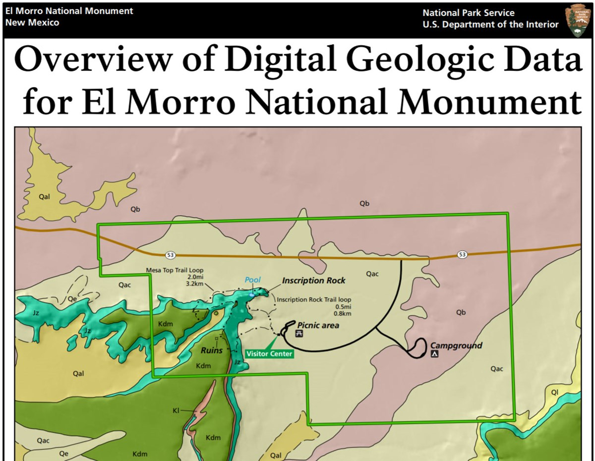 image of el morro gri geologic map