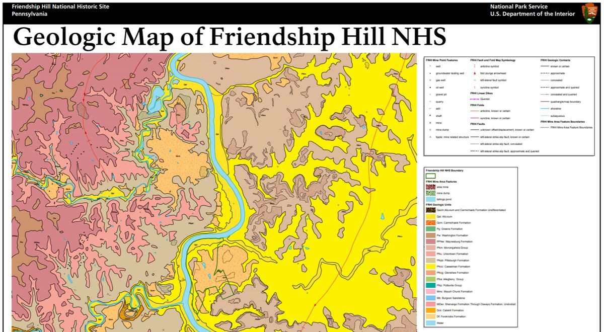 image of friendship hill gri geologic map