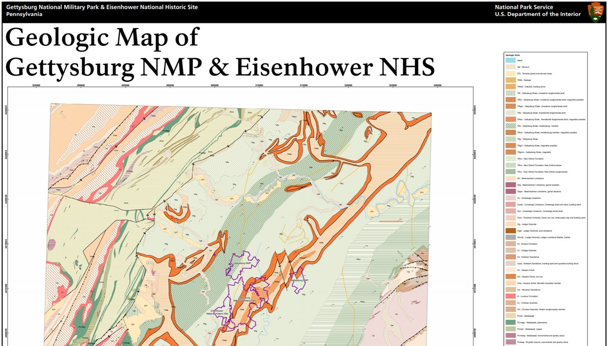 Gettysburg Topographic Map.Nps Geodiversity Atlas Gettysburg National Military Park