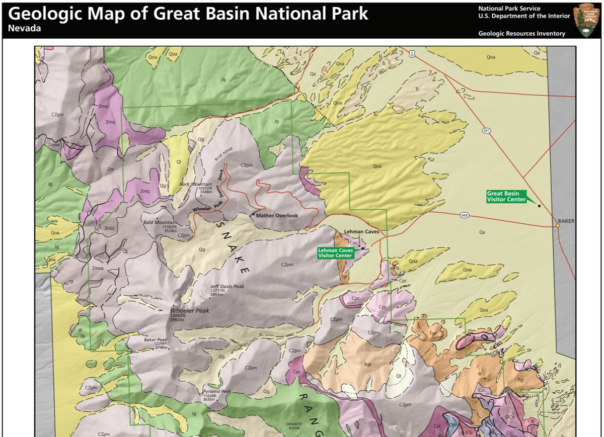 image of great basin gri geologic map