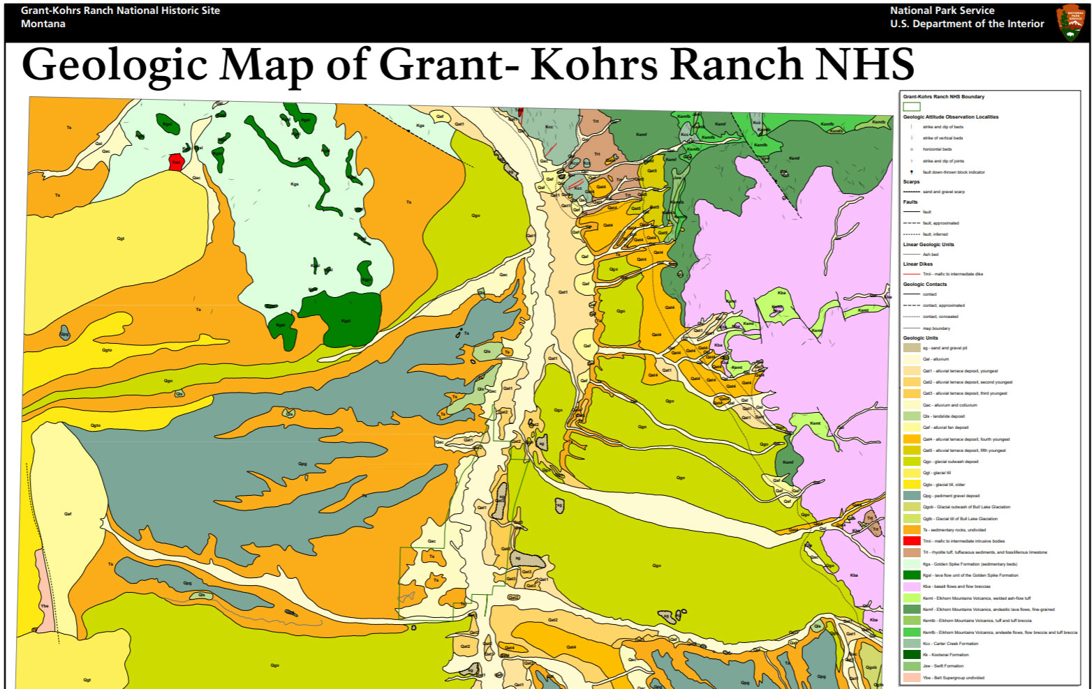 Nps Geodiversity Atlas Grant Kohrs Ranch National Historic Site
