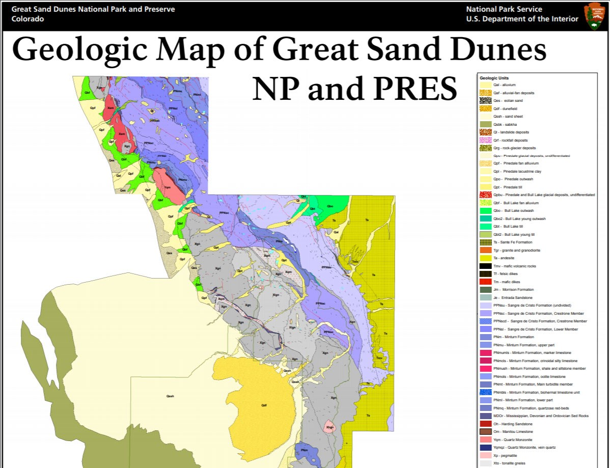 image of great sand dunes gri geologic map