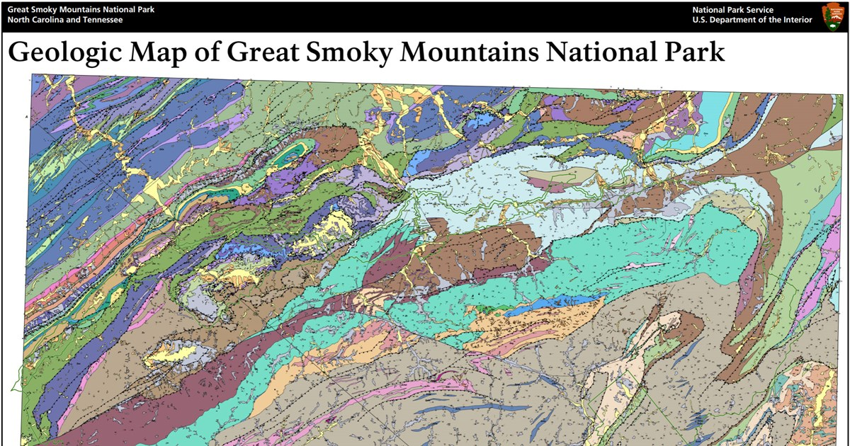 NPS Geodiversity Atlas—Great Smoky Mountains National Park ... on western national park map, cherry national park map, zion park map, big creek trail map, moon national park map, great smokies map, gatlinburg national park map, smokies park guides map,