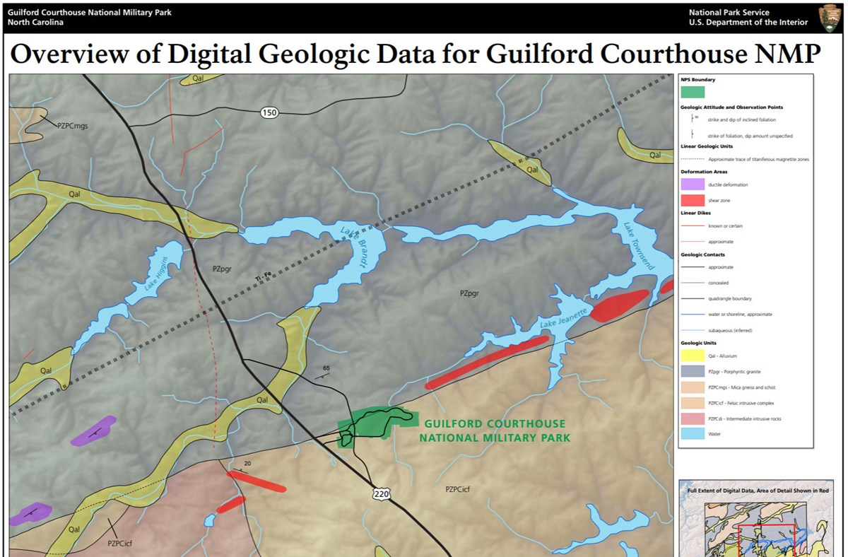 image of guilford courthouse gri geologic map