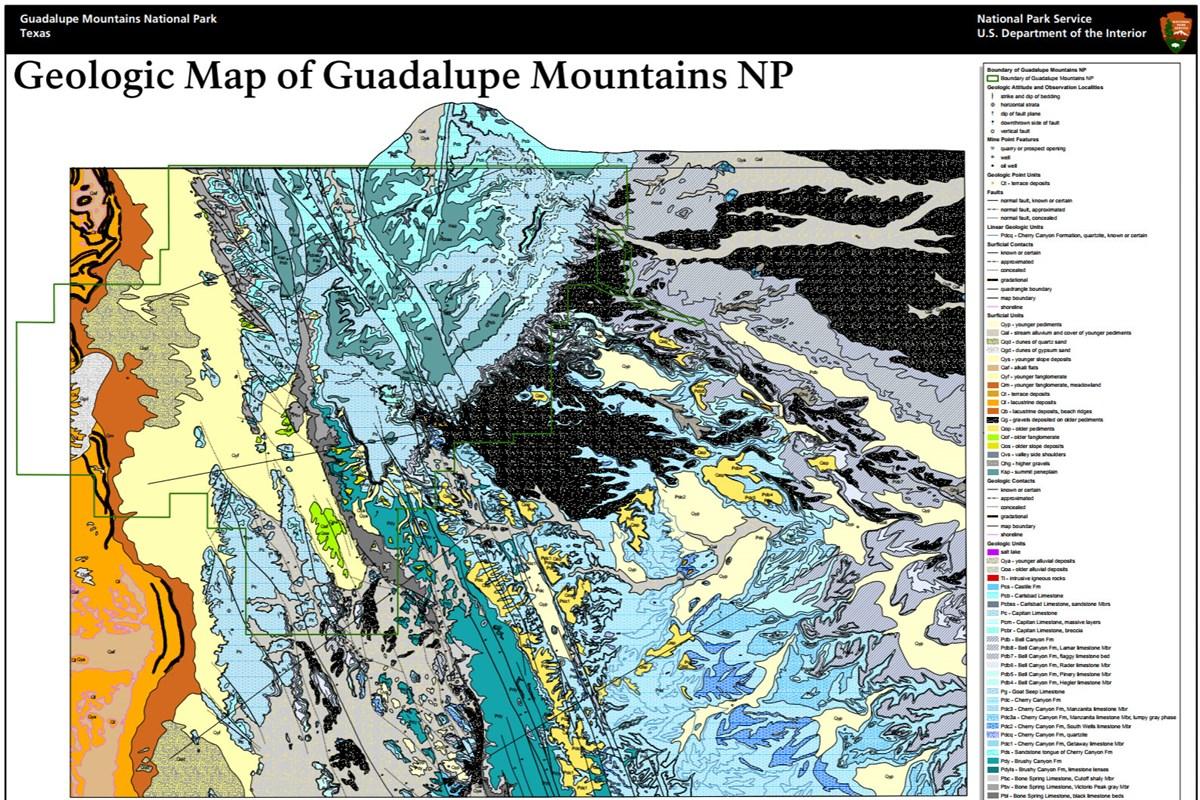 image of guadalupe mountains geologic map
