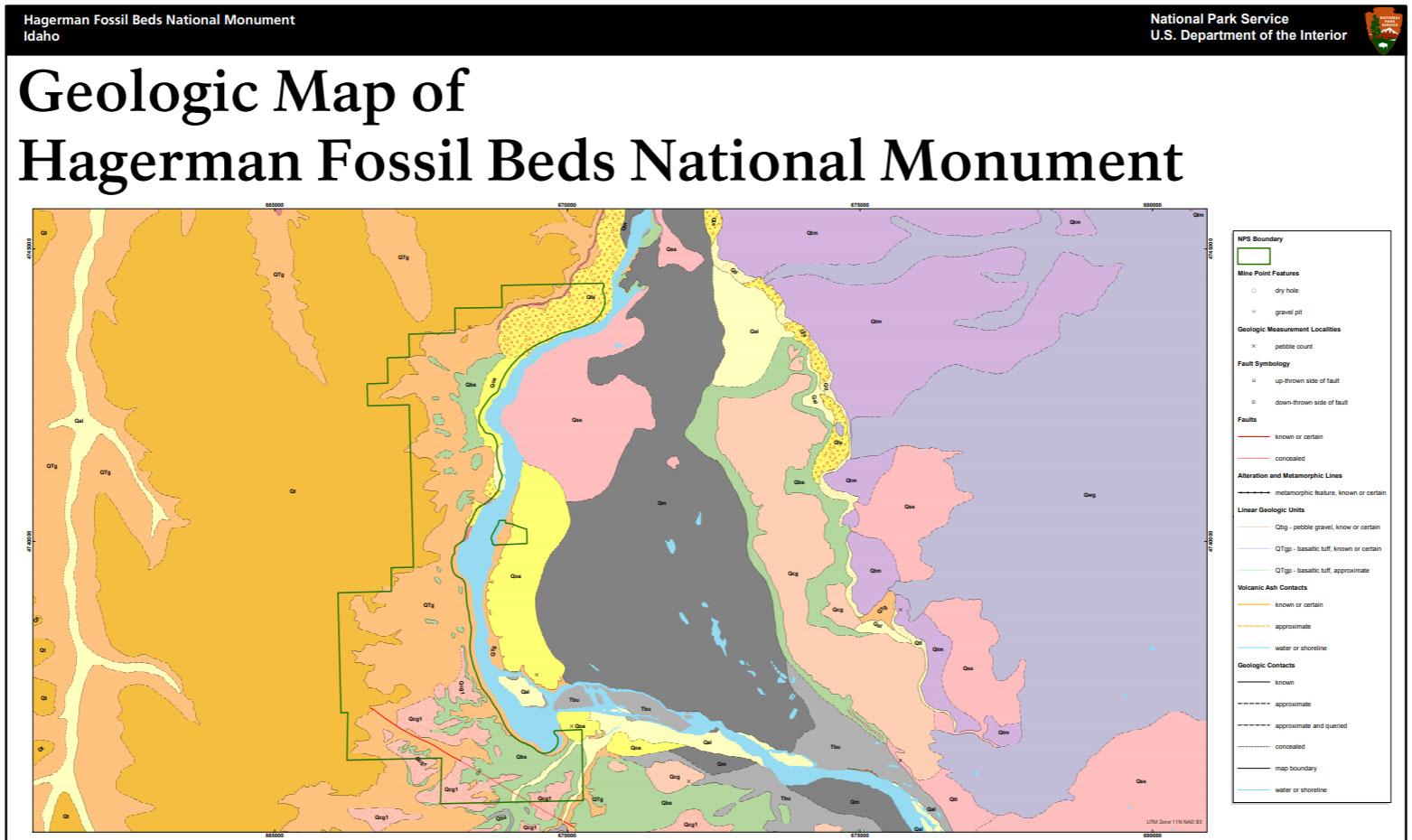 Hagerman Idaho Map.Nps Geodiversity Atlas Hagerman Fossil Beds National Monument Idaho