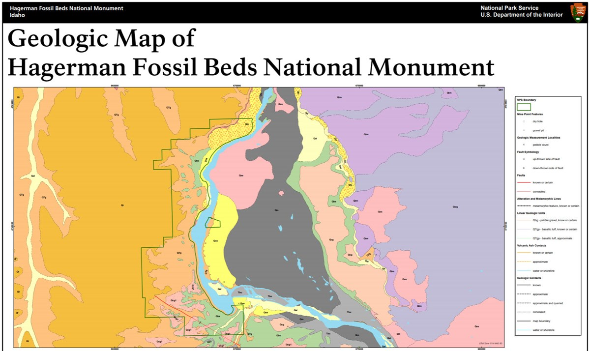image of hagerman fossil beds gri geologic map