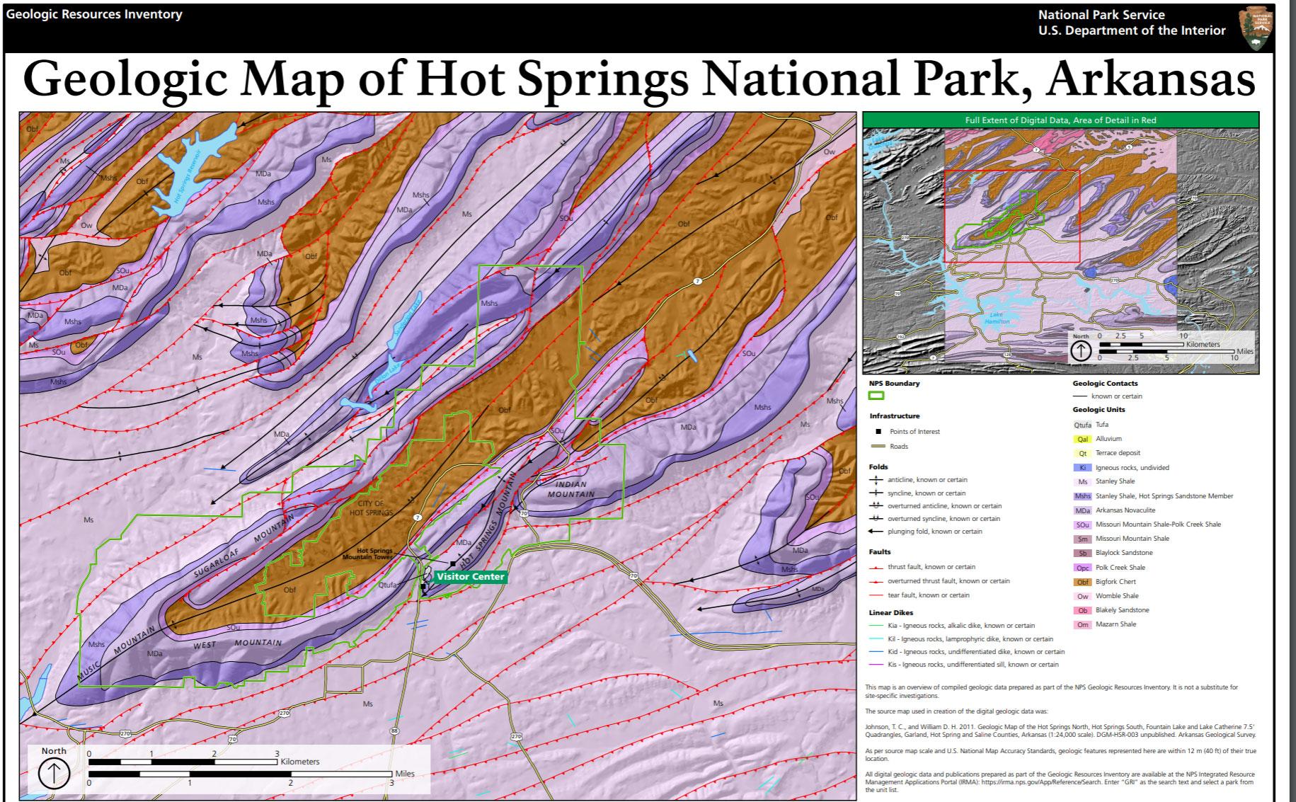 NPS Geodiversity Atlas—Hot Springs National Park, Arkansas (U.S. ...