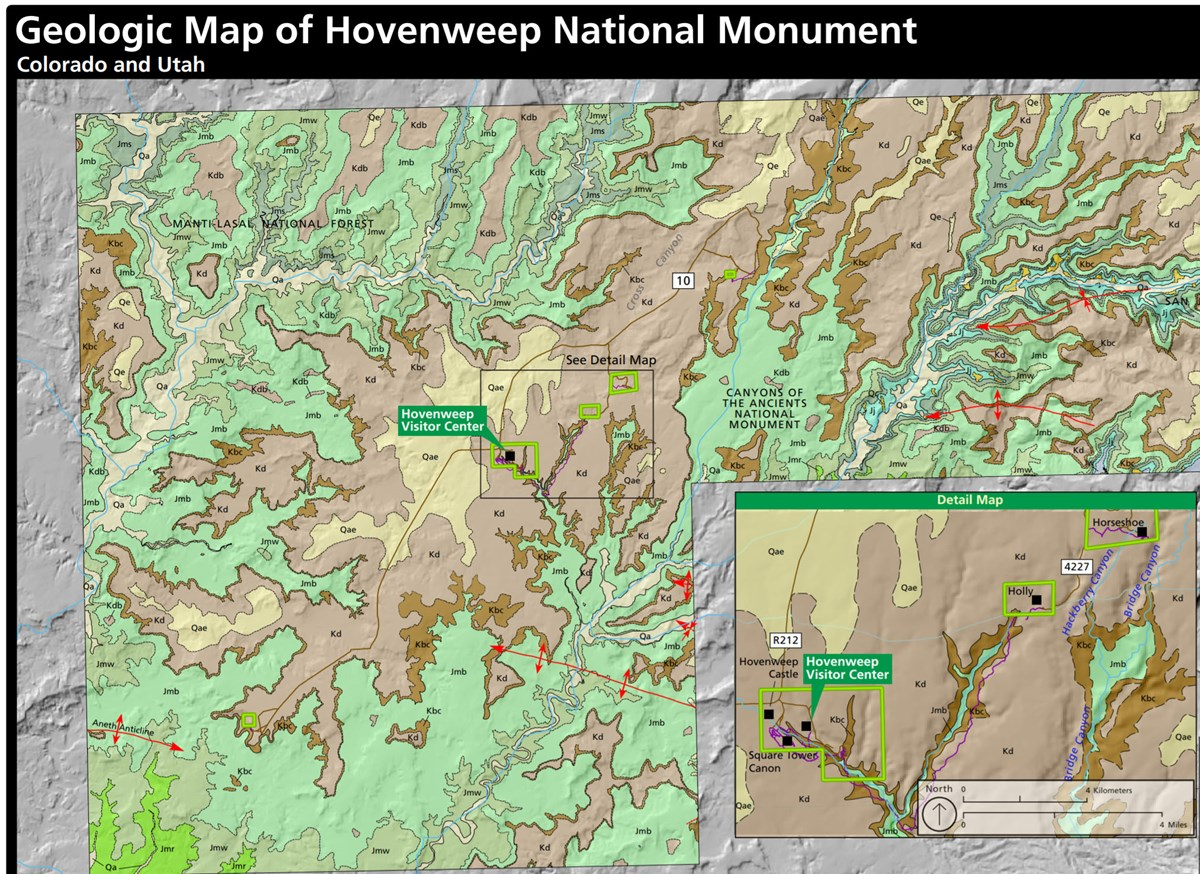 geologic map of hovenweep