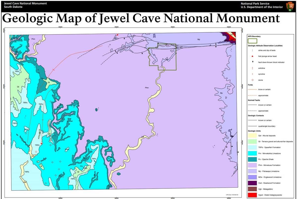 image of jewel cave gri geologic map