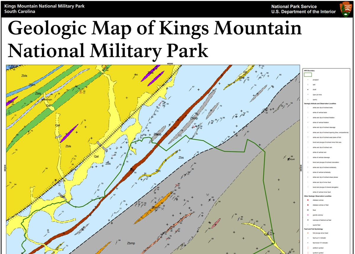 NPS Geodiversity Atlas—Kings Mountain National Military Park, North on king texas map, king of home, king of orchids, king james map,