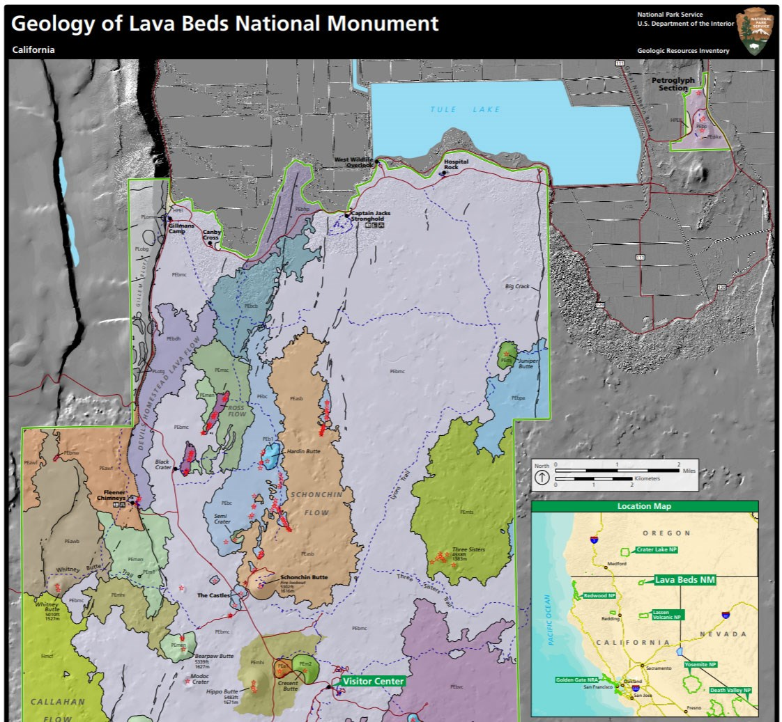 image of lava beds gri geologic map