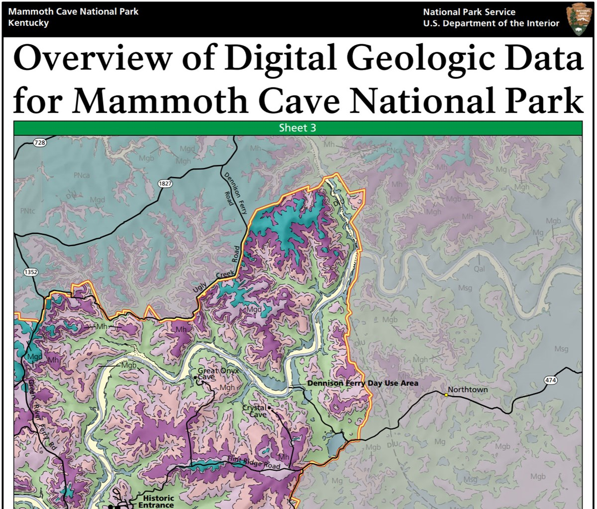 image of mammoth cave gri geologic map