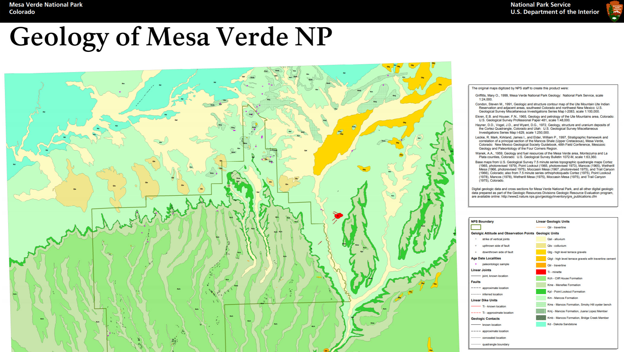 NPS Geodiversity Atlas—Mesa Verde National Park, Colorado ...
