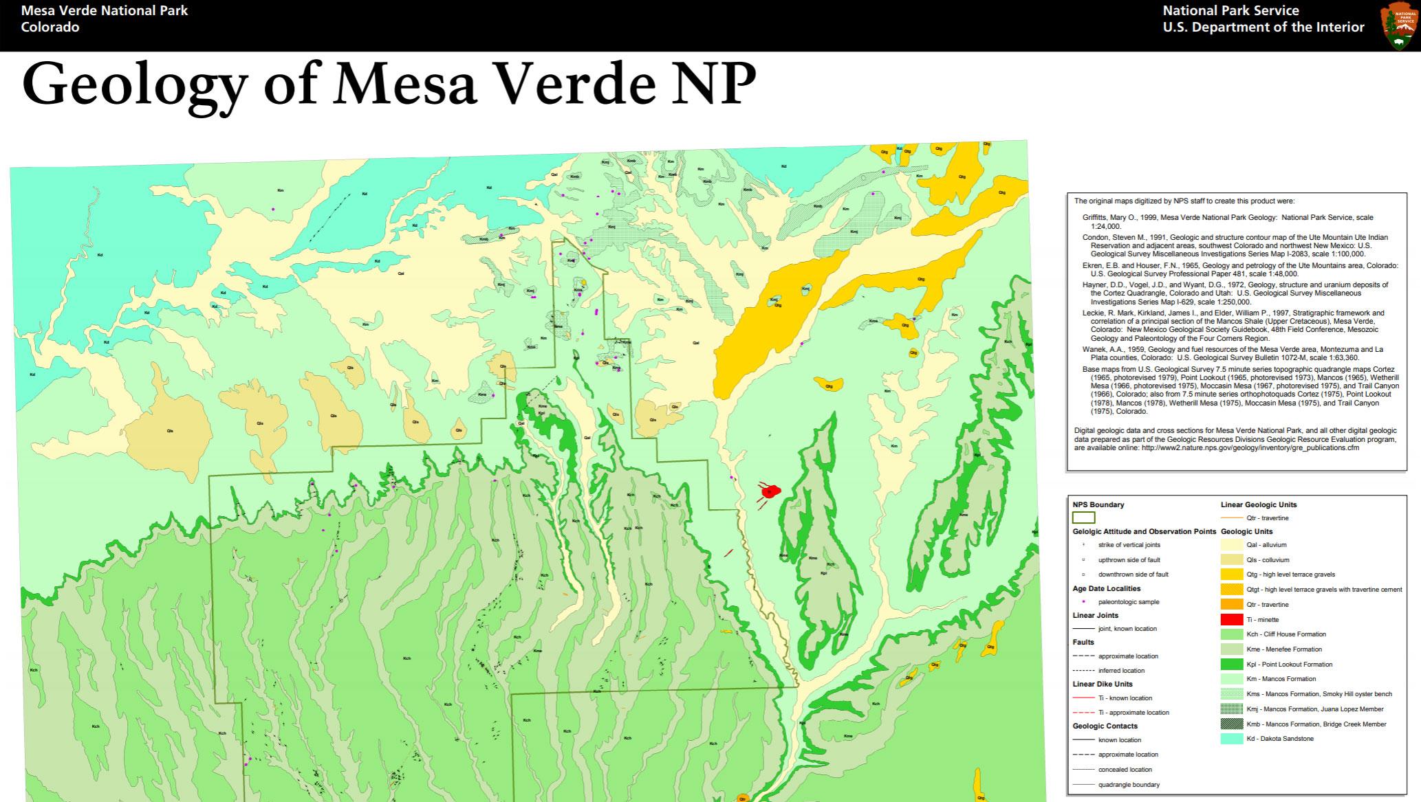 Mesa Verde Map on
