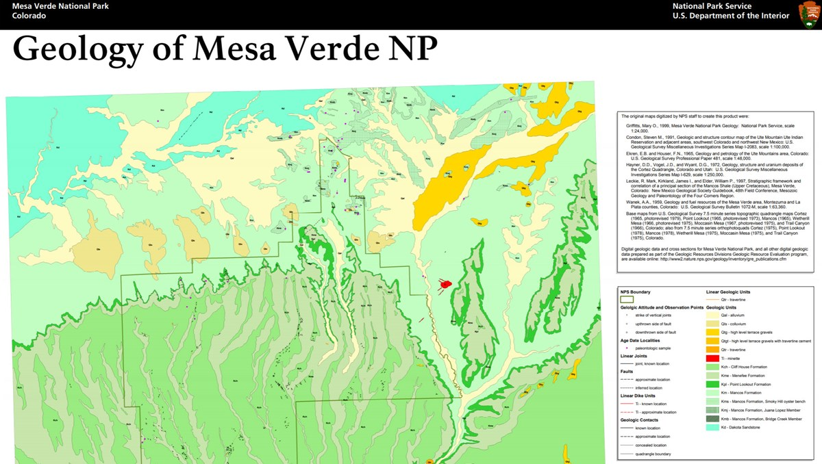 image of mesa verde gri geologic map