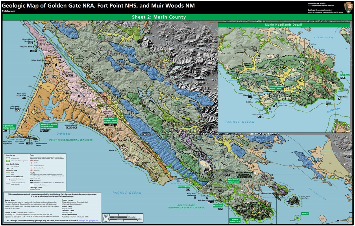 Geologic Map Of Georgia.Nps Geodiversity Atlas Muir Woods National Monument California