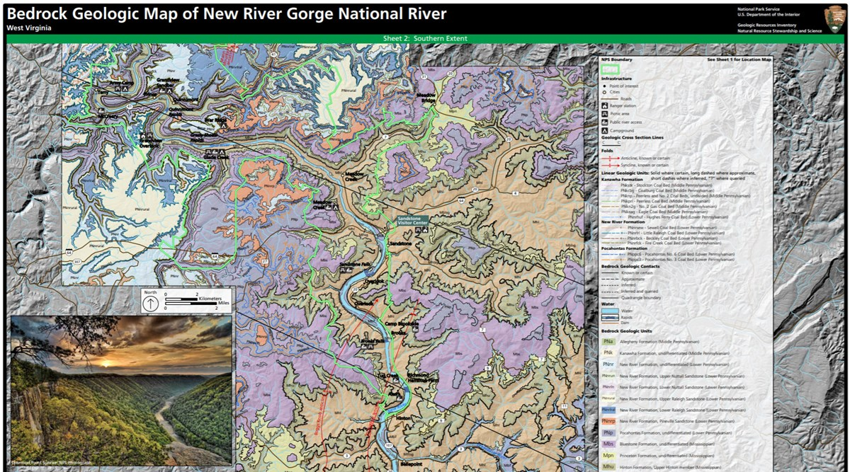 image of new river gorge gri geologic map
