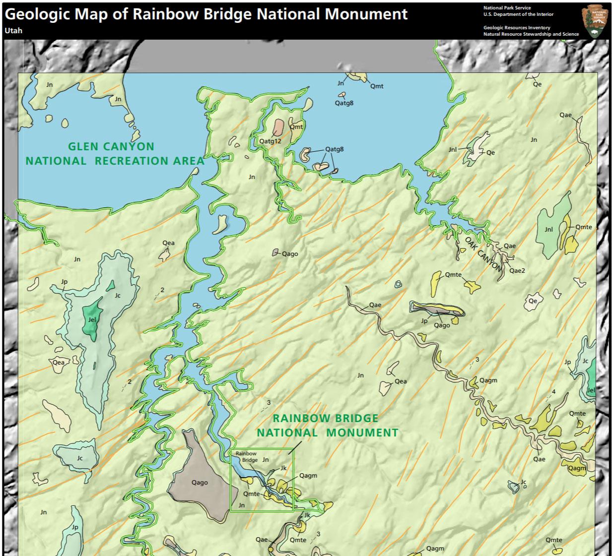 Nps Geodiversity Atlas Rainbow Bridge National Monument Utah U S National Park Service