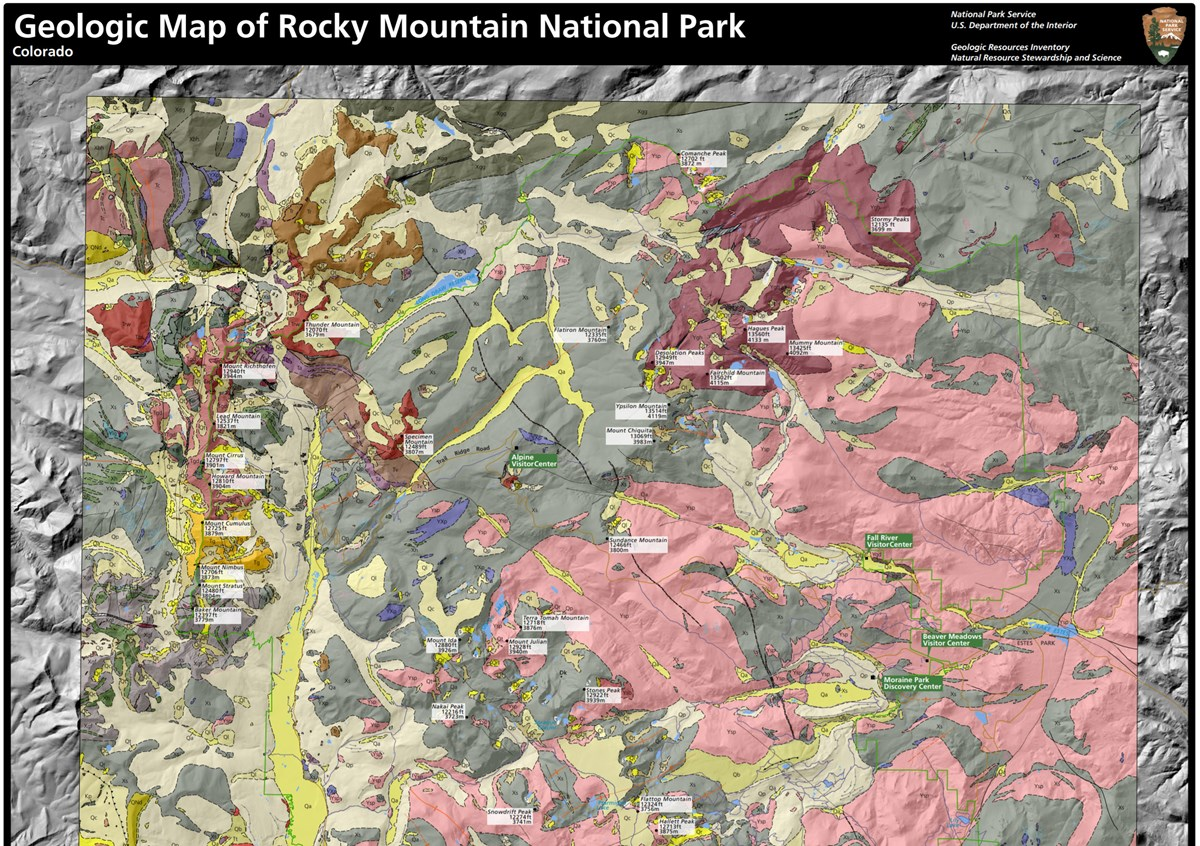 geologic map of rocky mountain