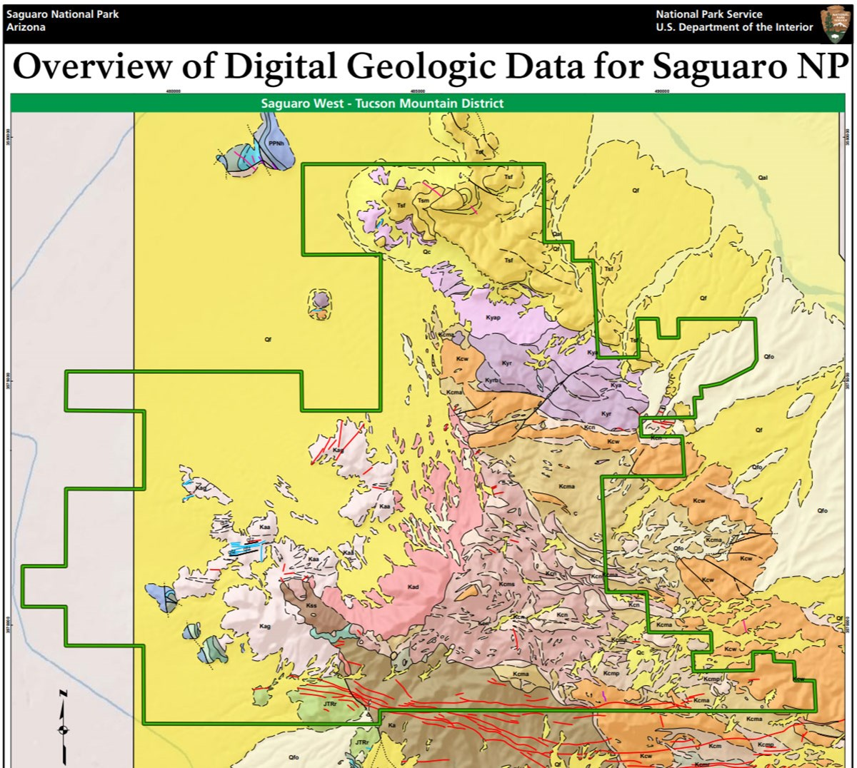 Geologic Map Of Arizona.Nps Geodiversity Atlas Saguaro National Park Arizona U S National