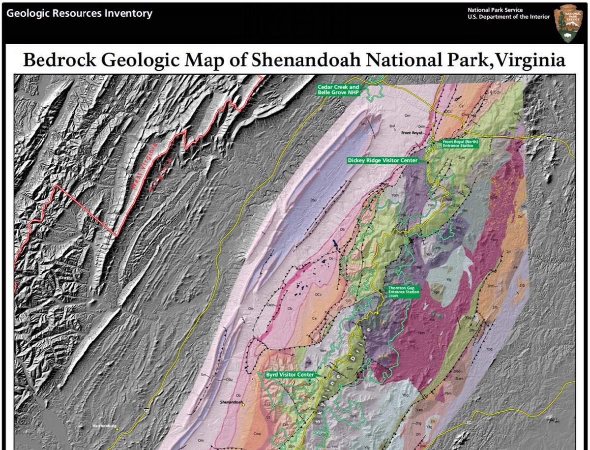 image of shenandoah gri geologic map