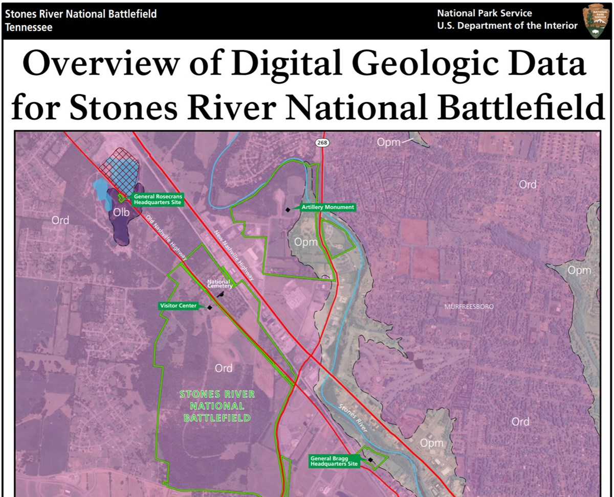 image of stones river gri geologic map