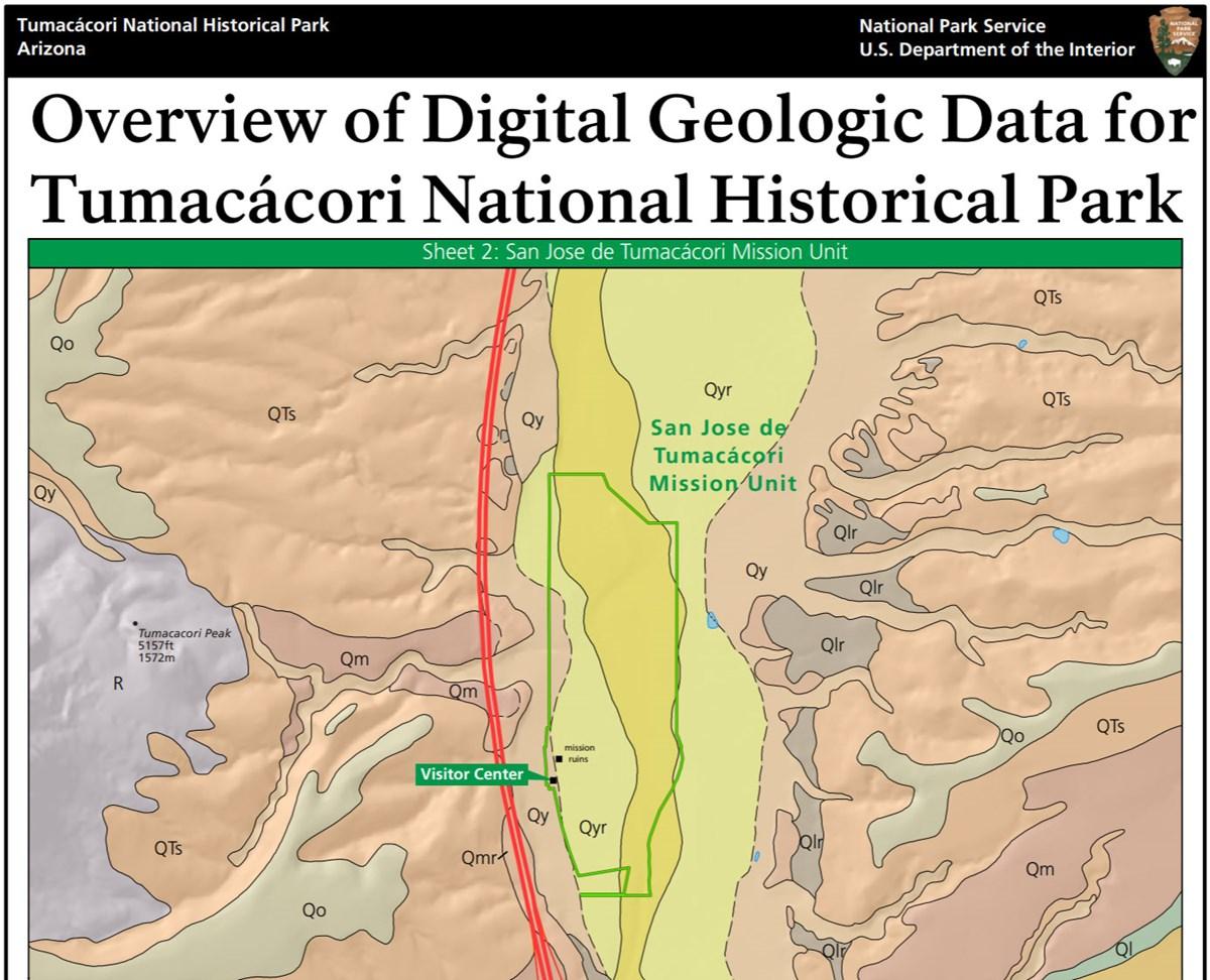 Map Of Arizona Historical Sites.Nps Geodiversity Atlas Tumacacori National Historical Park Arizona