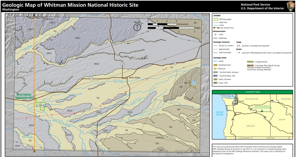 image of whitman mission gri geologic map