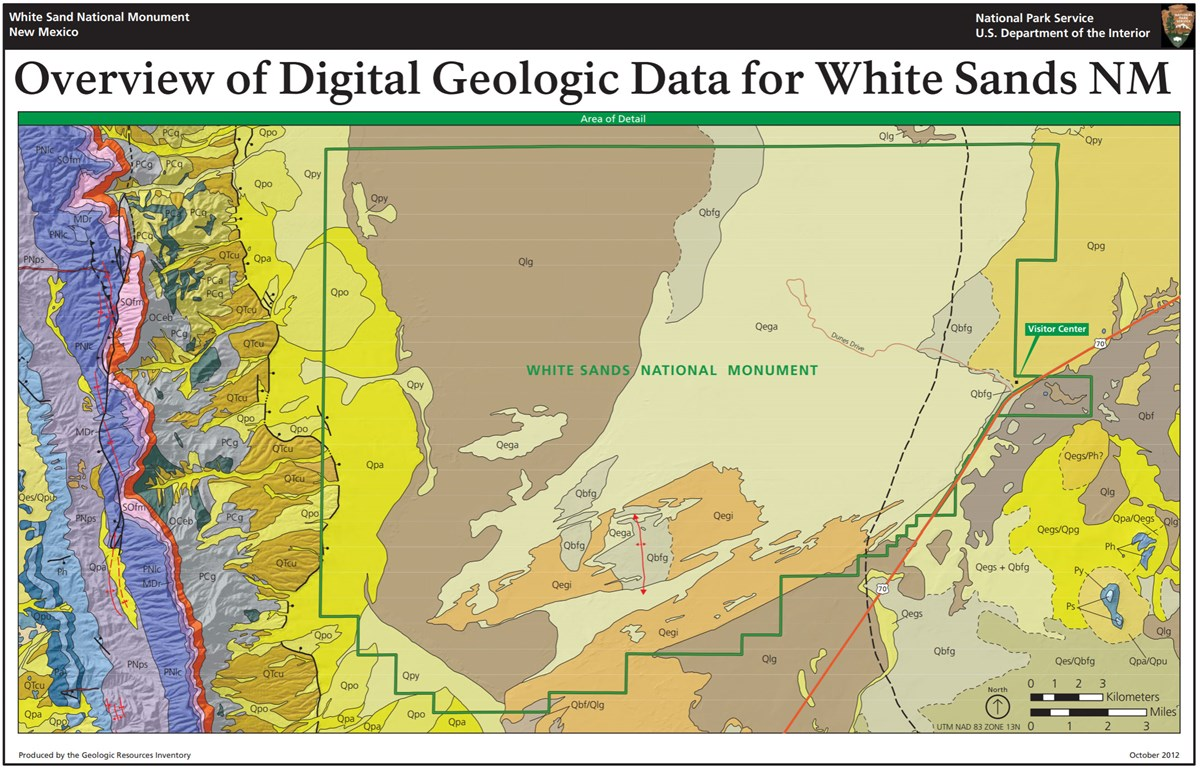 image of white sands gri geologic map