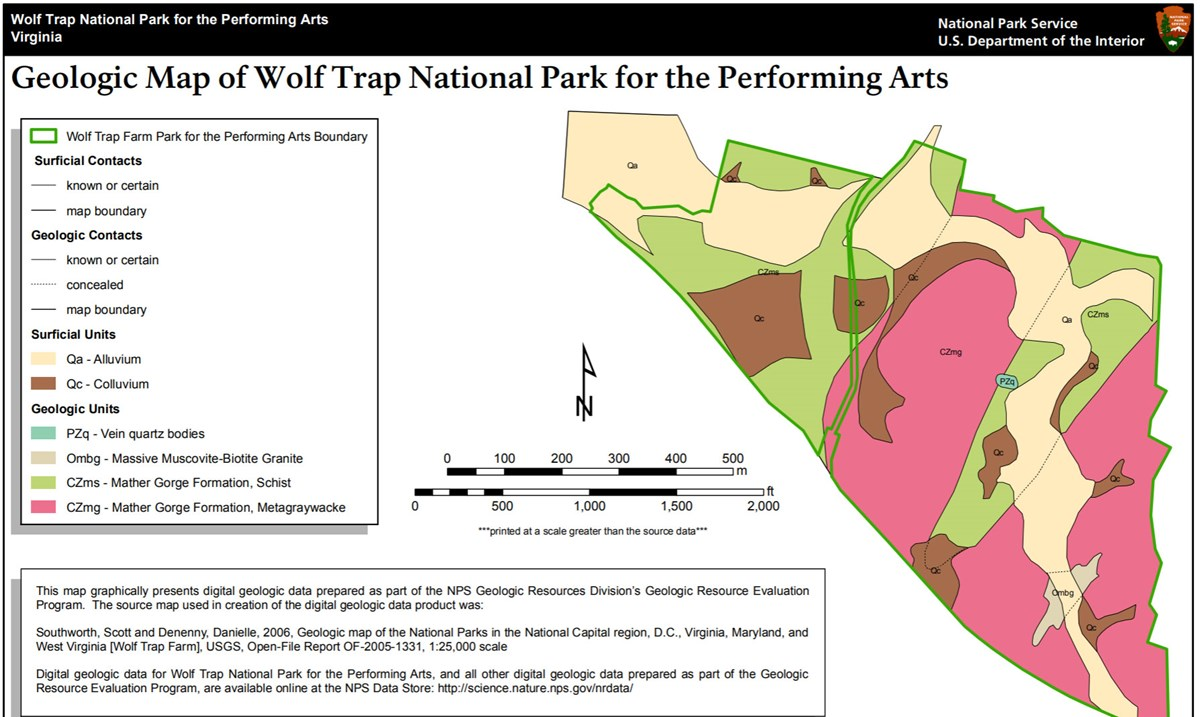 image of wolf trap gri geologic map