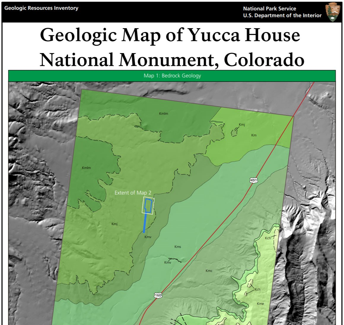 image of yucca house gri geologic map