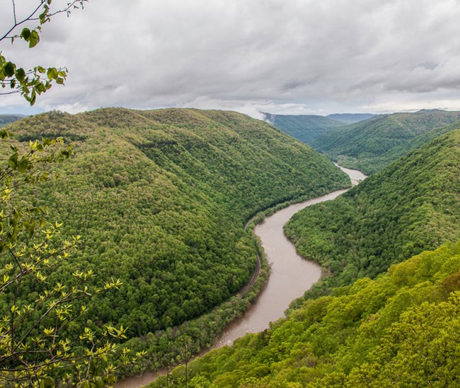 river gorge from overlook