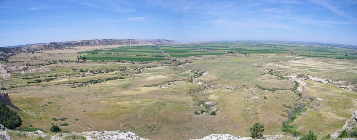 panoramic view from top of bluff