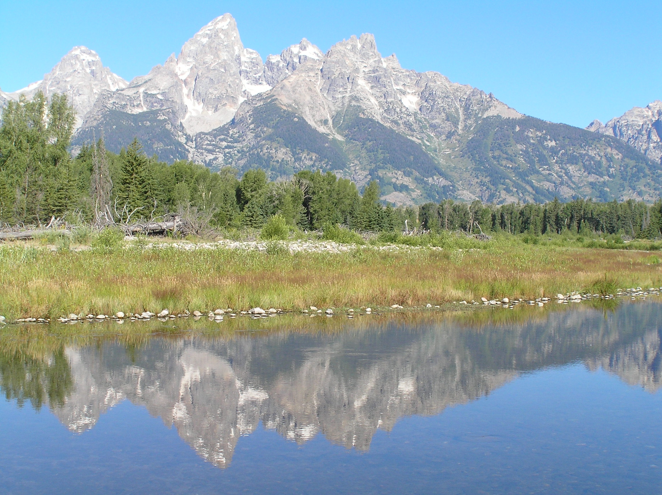 Teton mountain range in Grand Teton NP