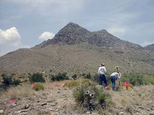 Mapping at Guadalupe Mountains