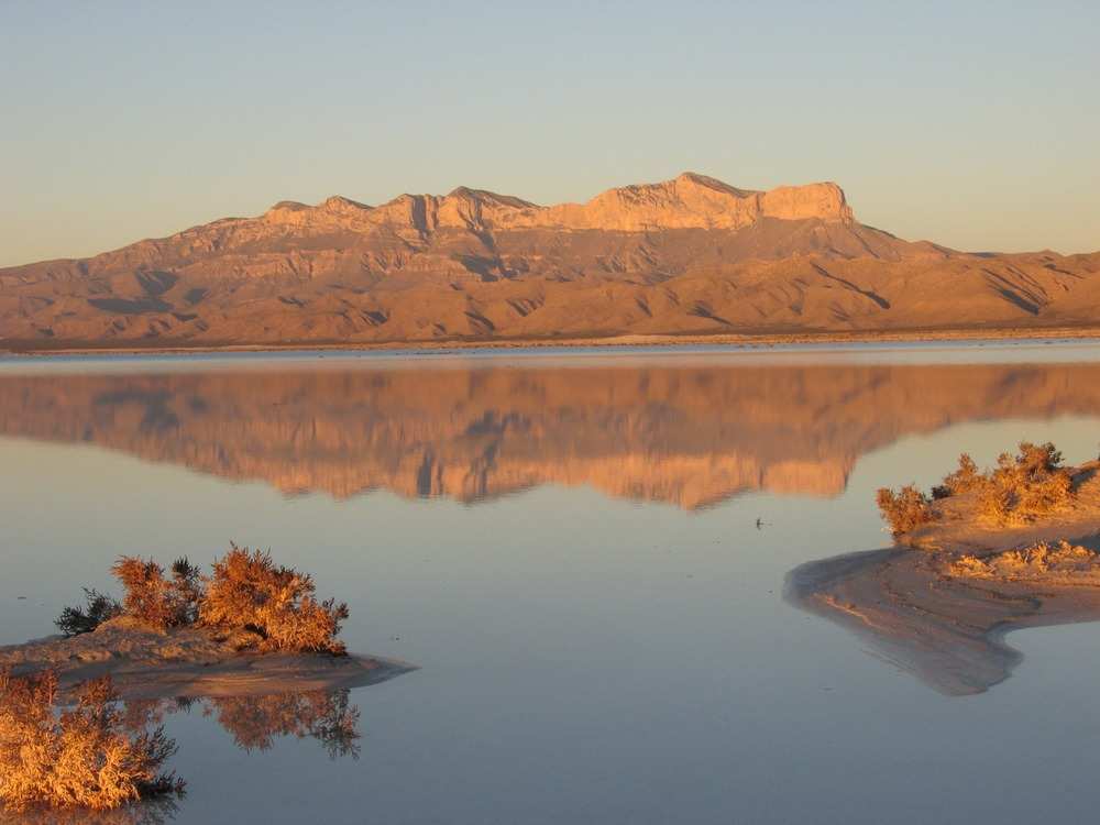 Salt lake vista in Guadalupe Mountains NP