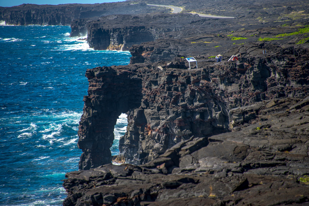 Hōlei Sea Arch in Hawai'i Volcanoes NP