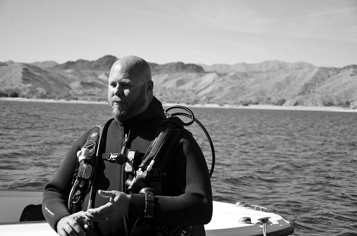 jeff pickard in diving gear
